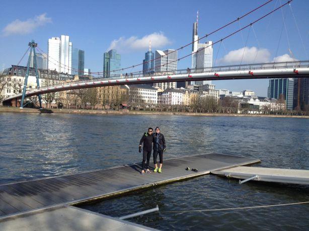 Running Frankfurt Bridge