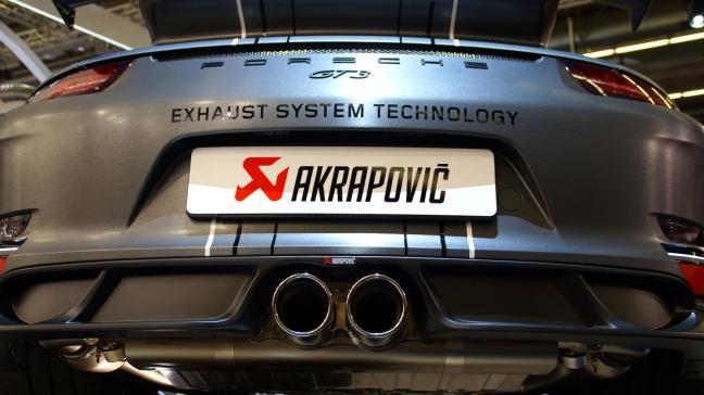 Akrapovic Porsche GT3